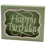 happy birthday flourished box card