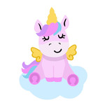 unicorn sitting on a cloud