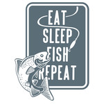 reel cool dad - eat, sleep fish