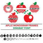 apple monogram frames dingbat font