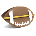 pencil holder football card