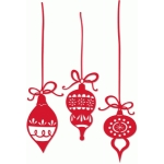 color vintage christmas ornaments