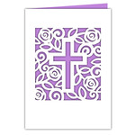 rose garden cross card