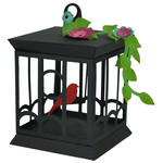 3d cube birdcage with flowers