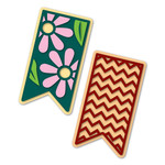 little banners flowers and chevron