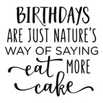 birthdays are nature's way - cake phrase