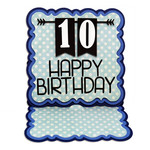 birthday easel card - all numbers included
