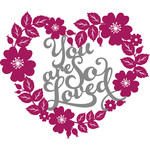 you are so loved floral wreath