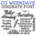 cg weekdays dingbats