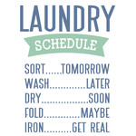 laundry day - schedule