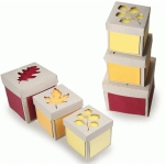 autumn leaves set of 3 stacked boxes
