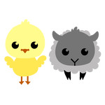 spring chick and lamb