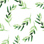 green watercolor leaf pattern