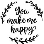 you make me happy wreath
