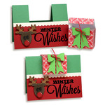 winter wishes card with gift box