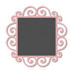 swirls square chalkboard frame / lable