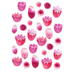 pink watercolor blossom stickers