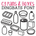 cg pans and boxes dingbats