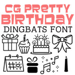 cg pretty birthday dingbats