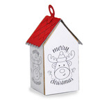 ml coloring house ornament - reindeer