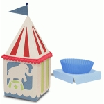 peaked roof cup cake elephant box
