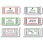 christmas sentiments- greetings tickets