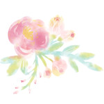 watercolor floral small
