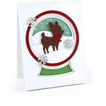 a2 pop dot card snow globe reindeer