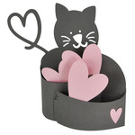 kitty love hug bendi card
