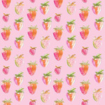 cute painted strawberry pattern