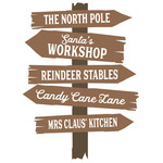 north pole rustic sign