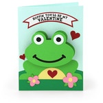 bobble head card valentine frog