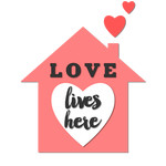 'love lives here' phrase