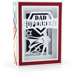 shadow box card superhero