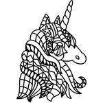 tribal unicorn