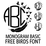 monogram basic - free birds