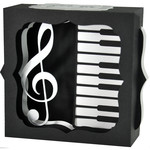 piano keys gift card box