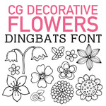 cg decorative flowers dingbats