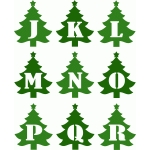 christmas tree alphabet j-r