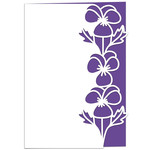 pansies lace edged card
