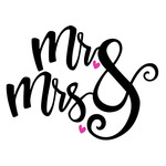 mr & mrs wedding phrase