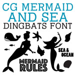 cg mermaid and sea dingbats