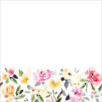 cute watercolor flower border
