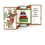 shutter card center panel reindeer