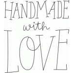 handmade with love sketch phrase
