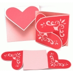 card interlock lace heart and envelope set