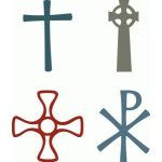 crosses - set of four