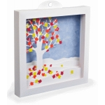 3d falling leaves shadow box (large)