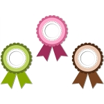 award ribbon frame