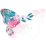 painted floral butterfly shape